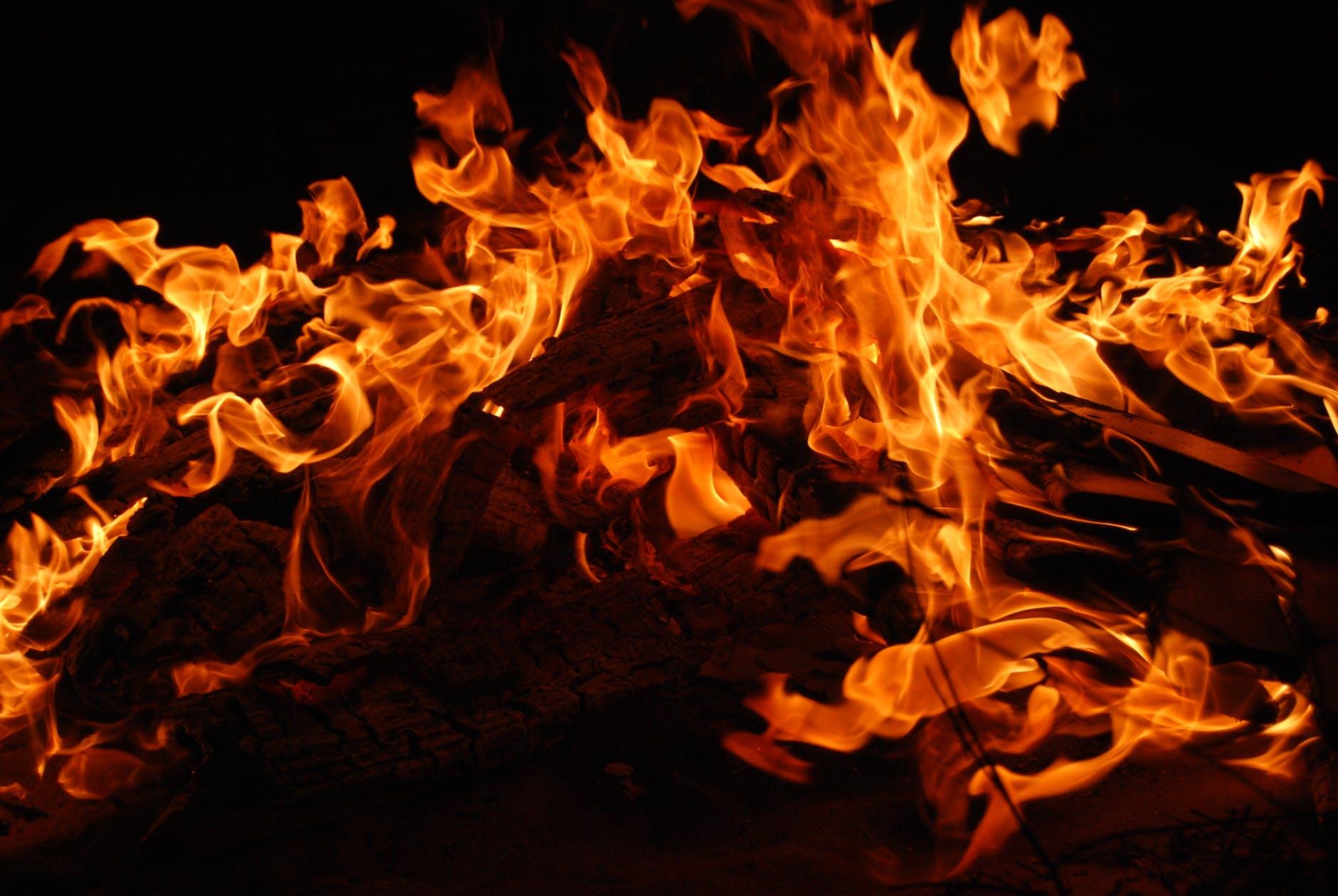 bonfire burning campfire fire